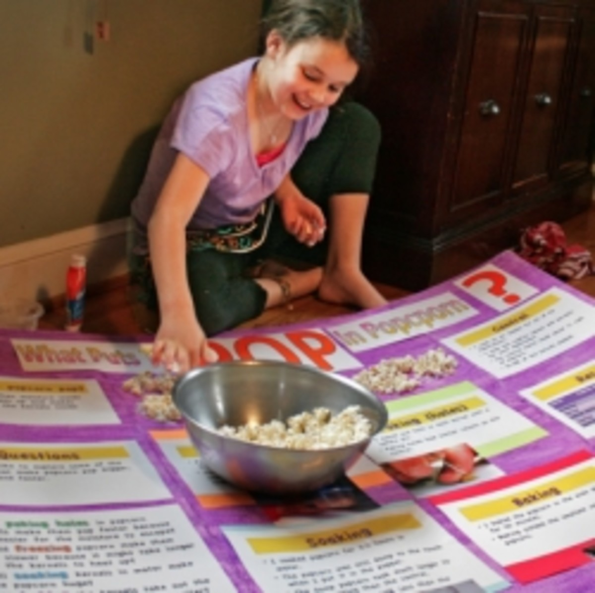 """Image of """"What puts the 'pop' in popcorn?"""" science fair project, courtesy of woodleywonderworks, under Creative Commons 2.0 license."""