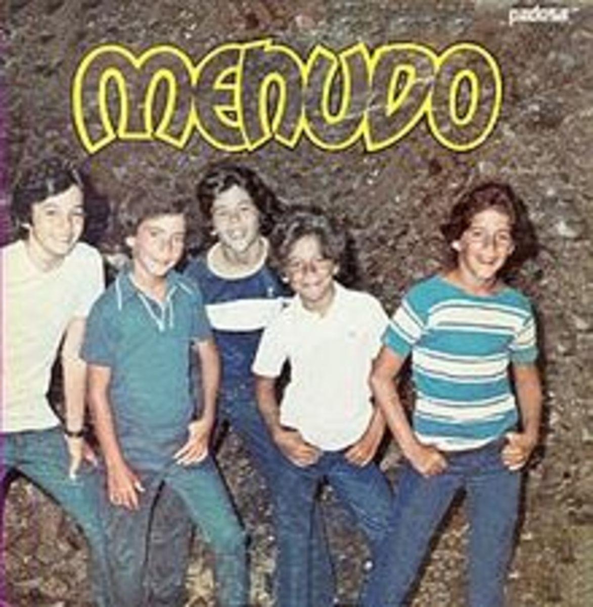 """Menudo's First album """"Los Fantasmas"""" released in 1977."""