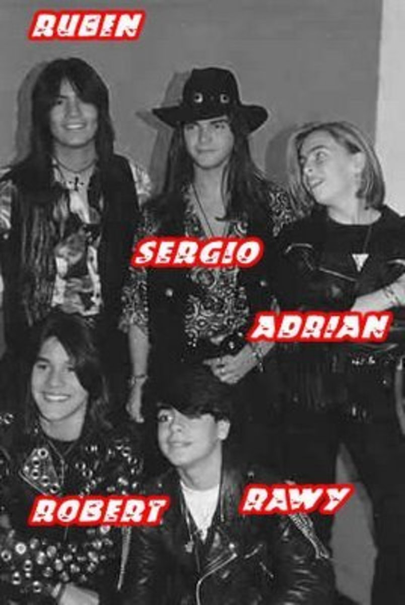 The 1990 lineup of Menudo.