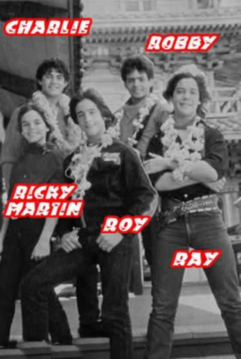 Second 1984 Menudo lineup. Ricky Martin becomes the newest member of Menudo as well.