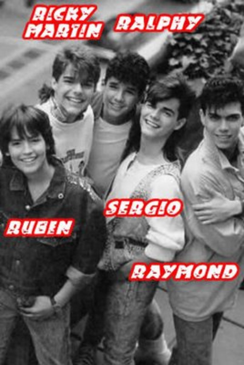 Menudo's second 1986 lineup with Ruben Gomez as their newest member.