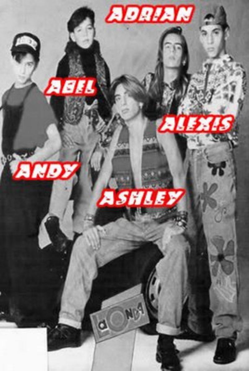 Menudo 1991 lineup of members.