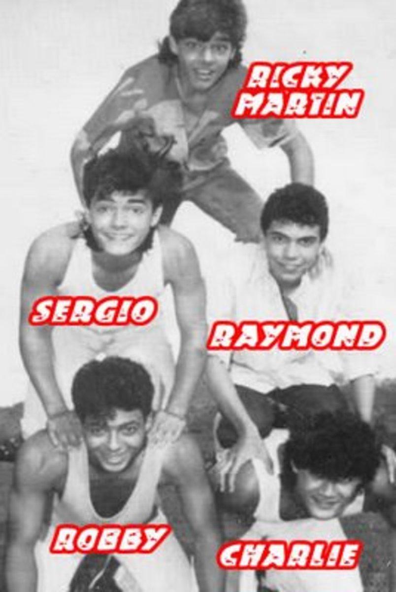 Menudo 1985 lineup.