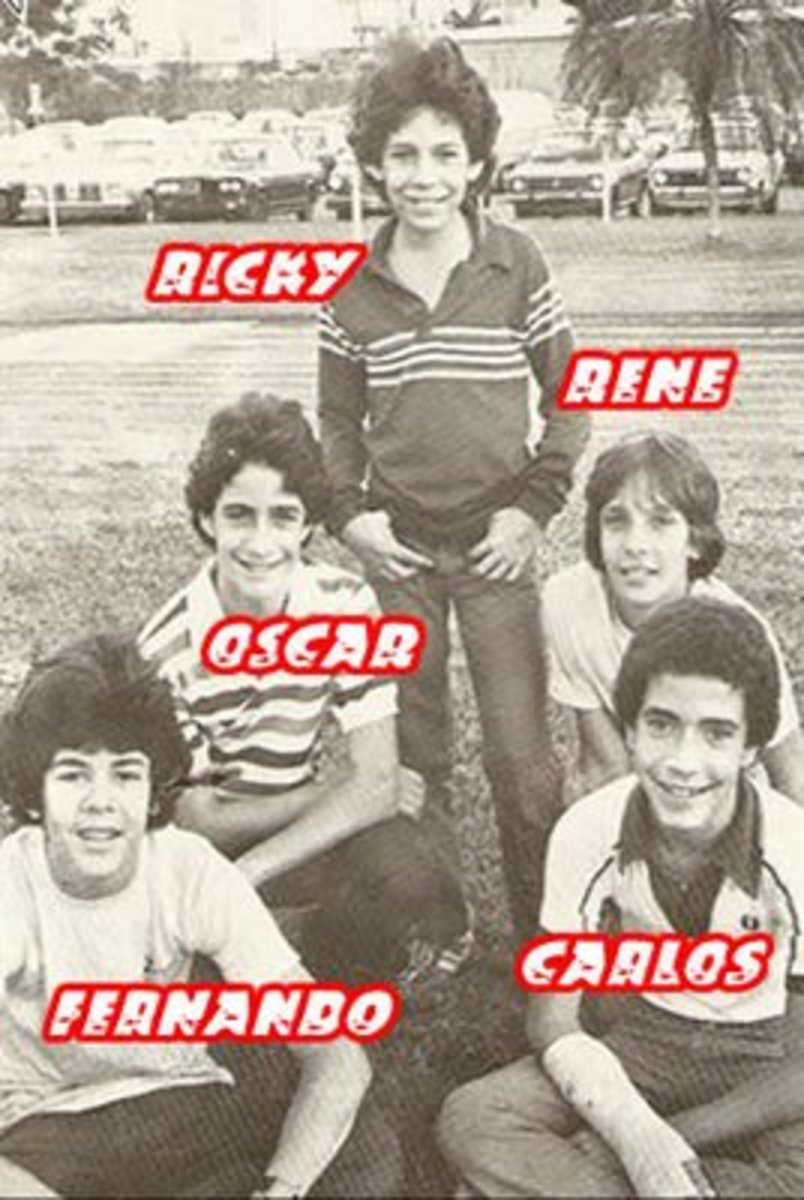 The 1979 lineup of Menudo, at this point Rene Farrait becomes the newest member of Menudo replacing Nefty Sallaberry.