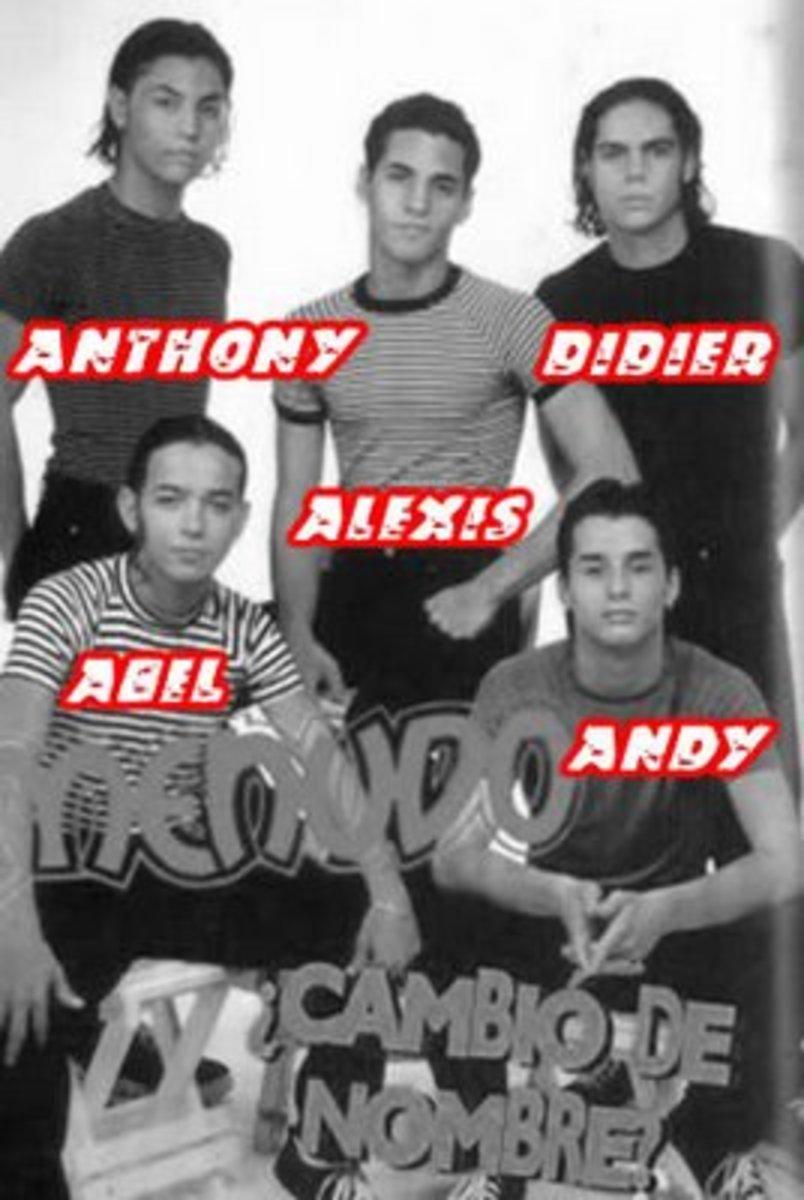 Menudo 1995 lineup of members.