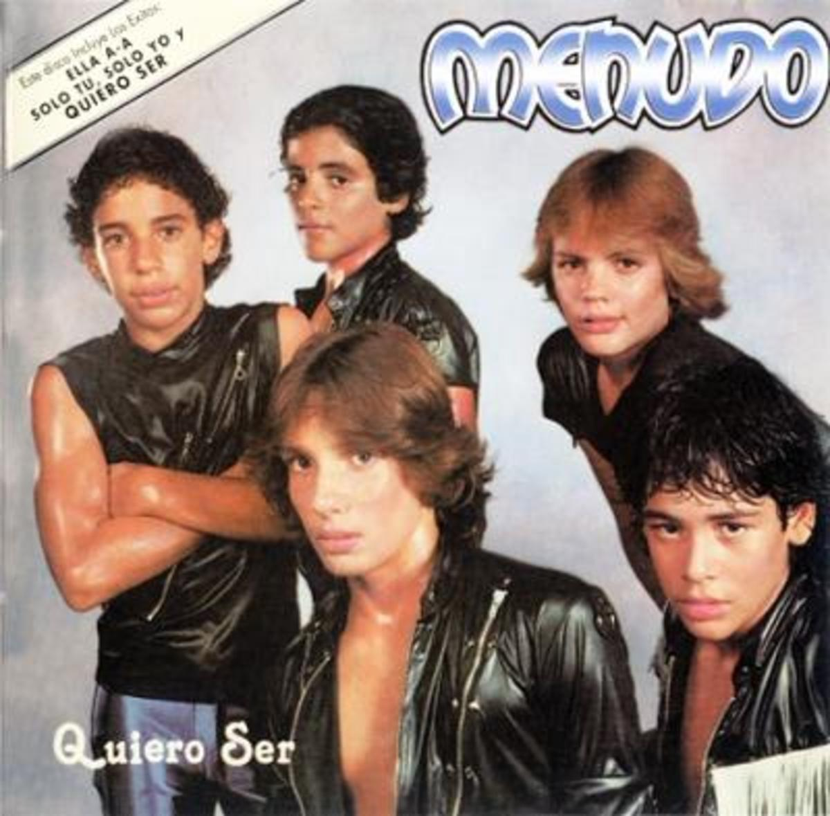 "Menudo's front cover album of ""Quiero Ser"" (I Want to Be"")"