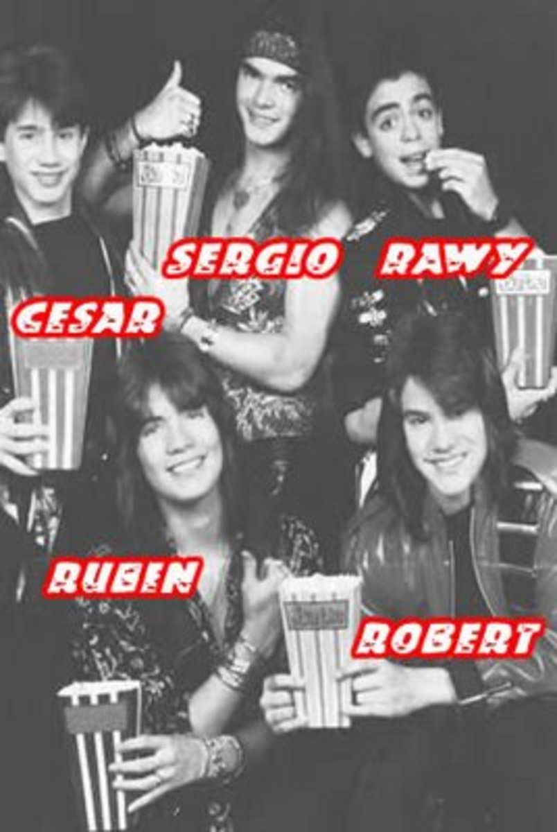 Second 1989 lineup of Menudo with Cesar as their new member.