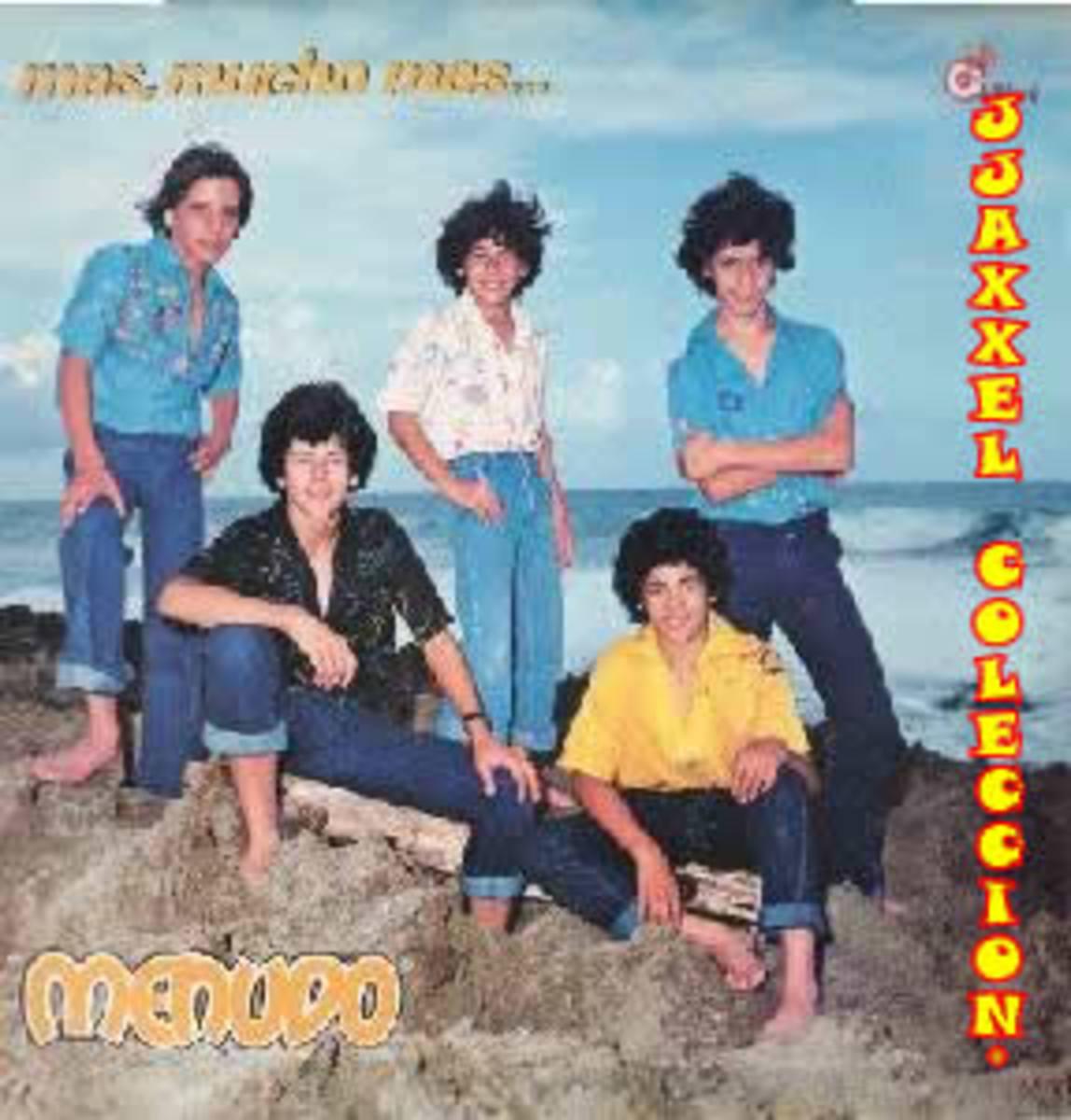 """Menudo's 1979 album """"Mas Mucho Mas"""" (More Much More)."""