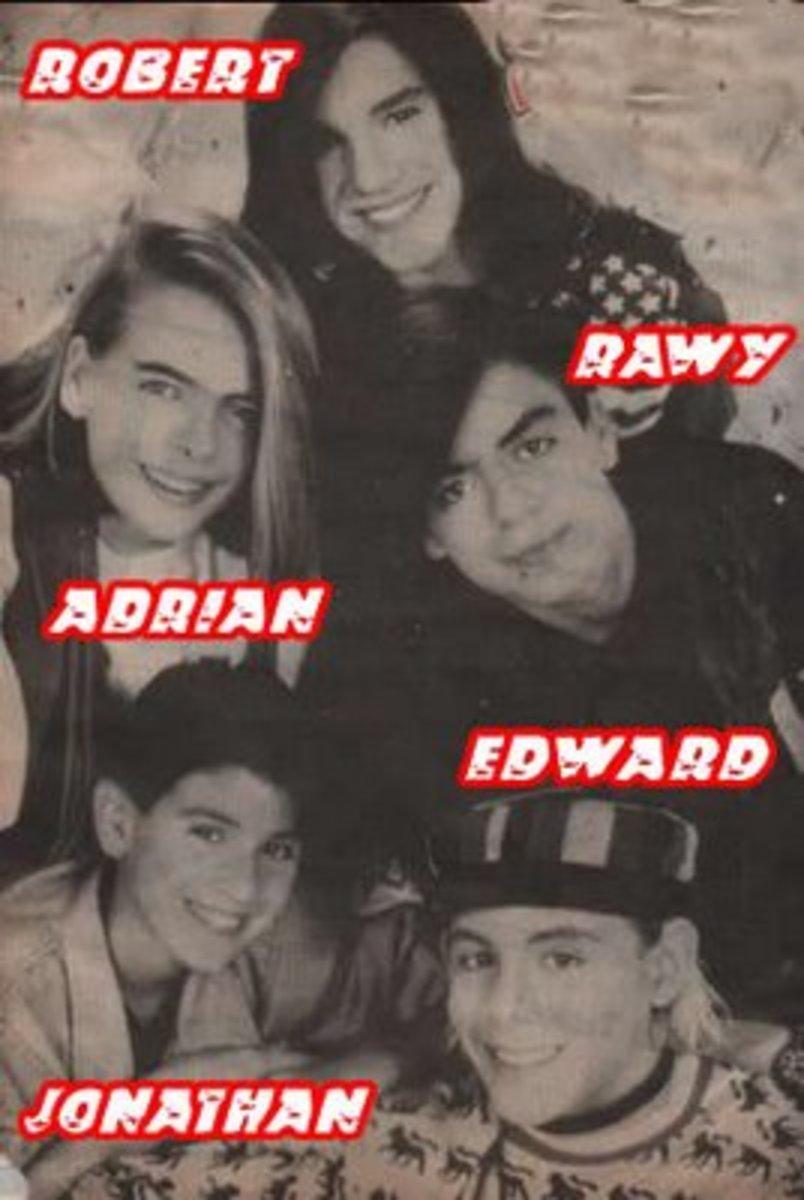 Second 1990 lineup of Menudo members.