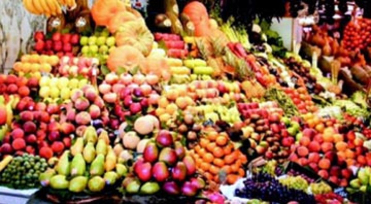 Egyptian fruit market