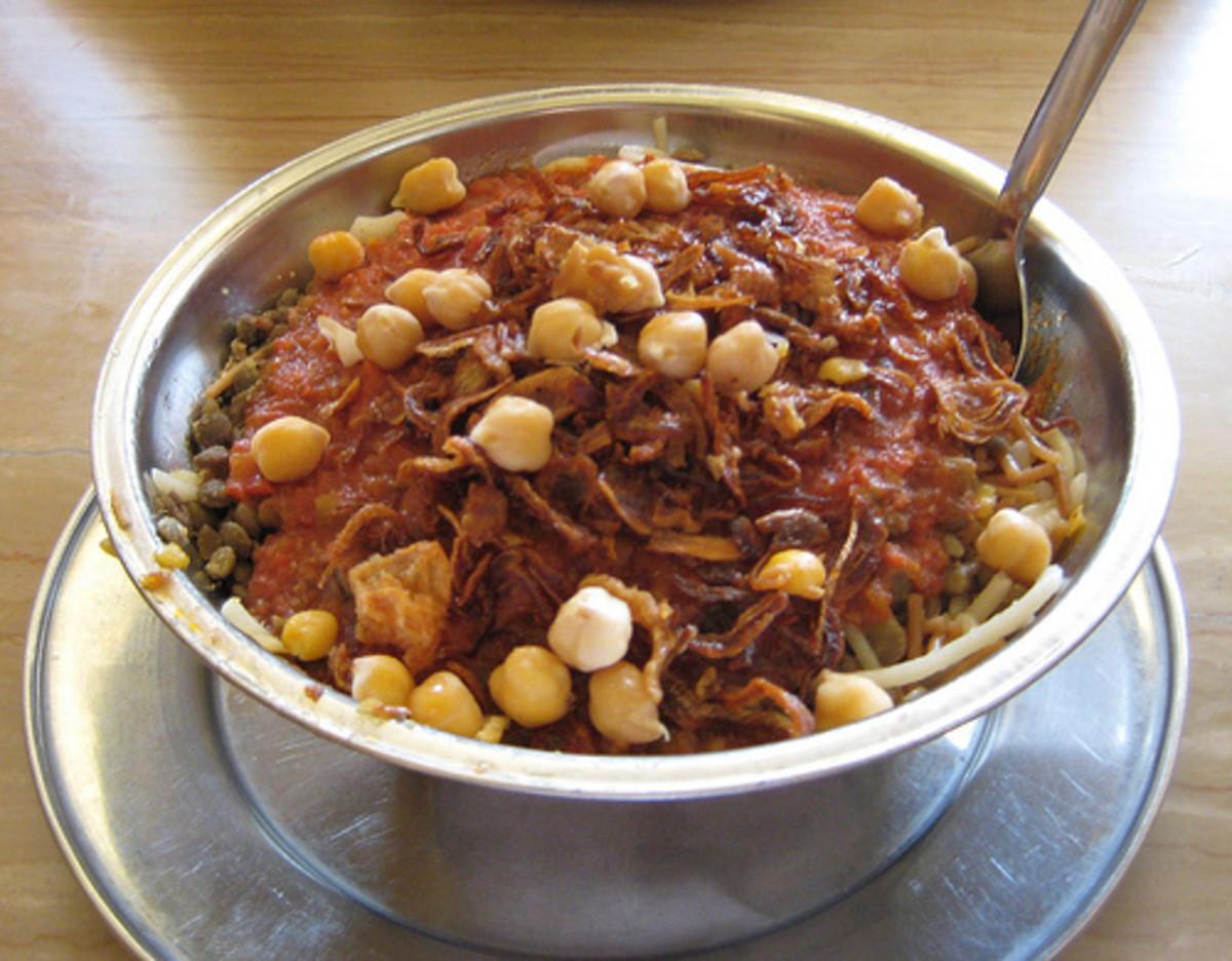 Egyptian main meal