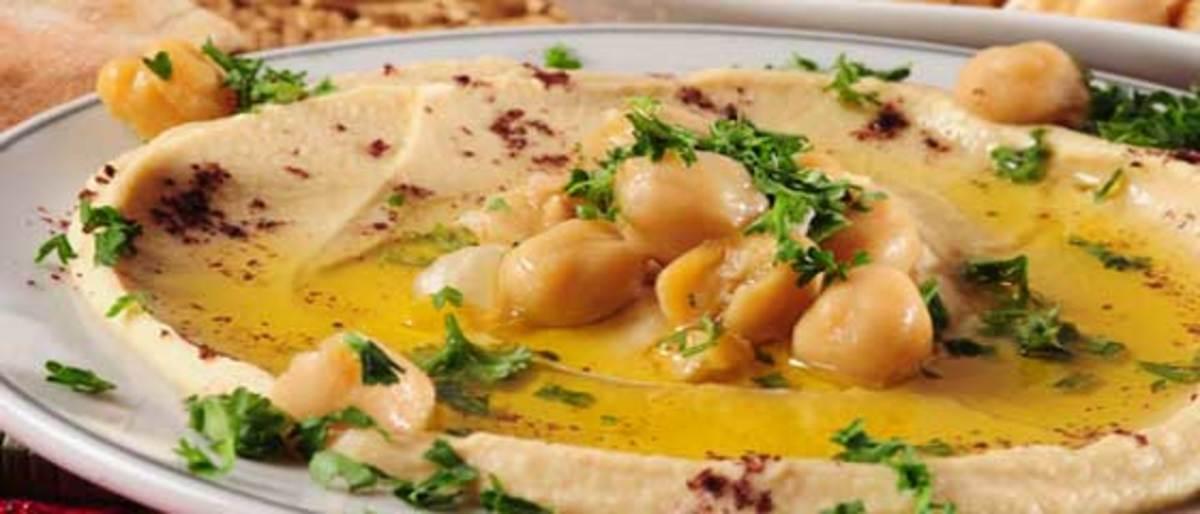 Egyptian hommus or chickpeas