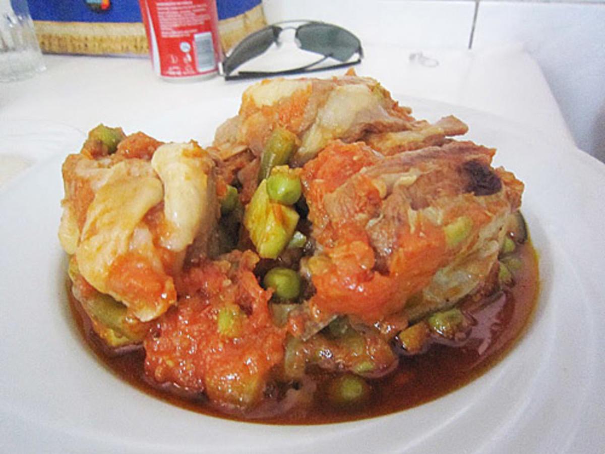 Egyptian lamb stew
