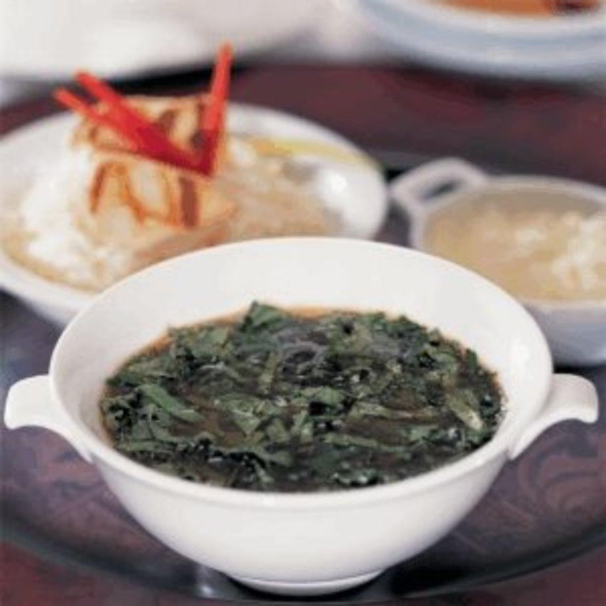 Egyptian Maloukhiya soup