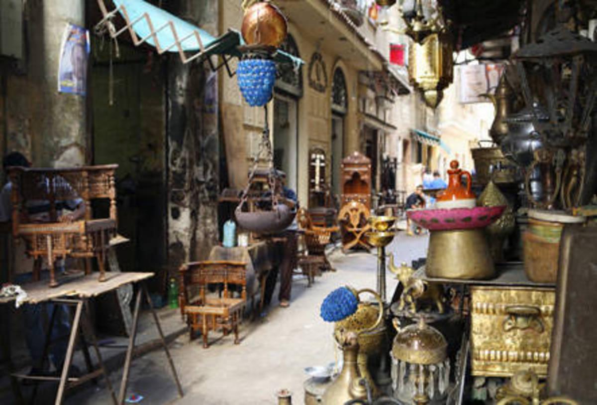 Egyptian souk (marketplace)