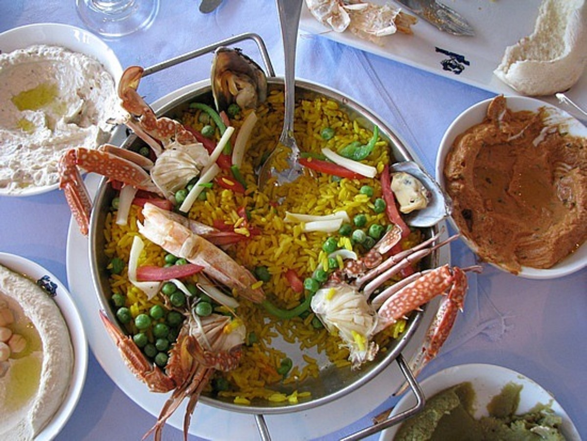 Egyptian seafood market lunch