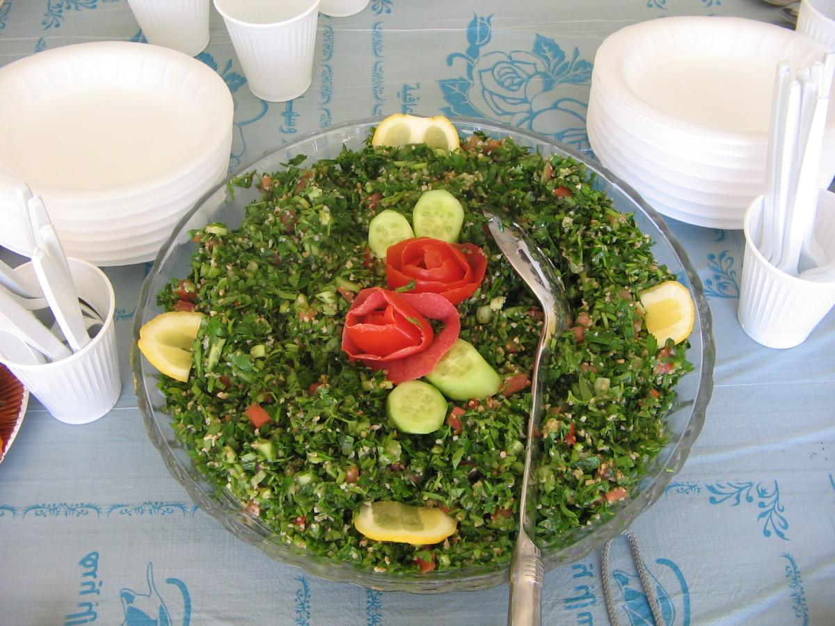 Egyptian salad or taboola