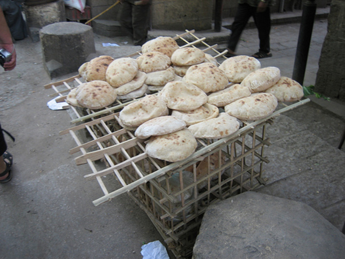 Egyptian pita or aish baladi