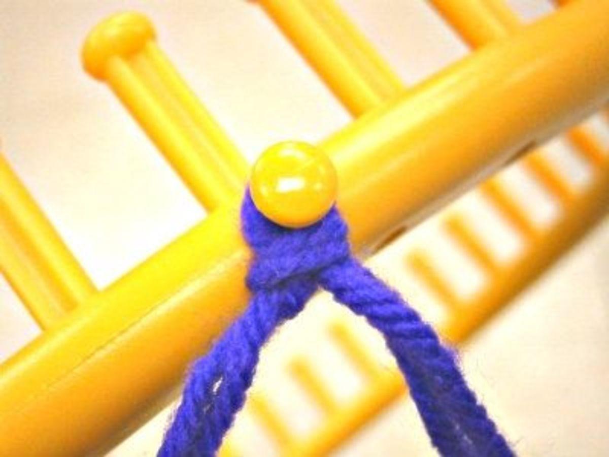 7. Tighten the knot around the peg
