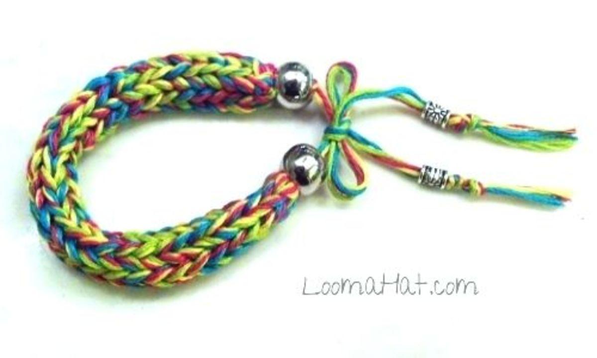 Knit Friendship Bracelet