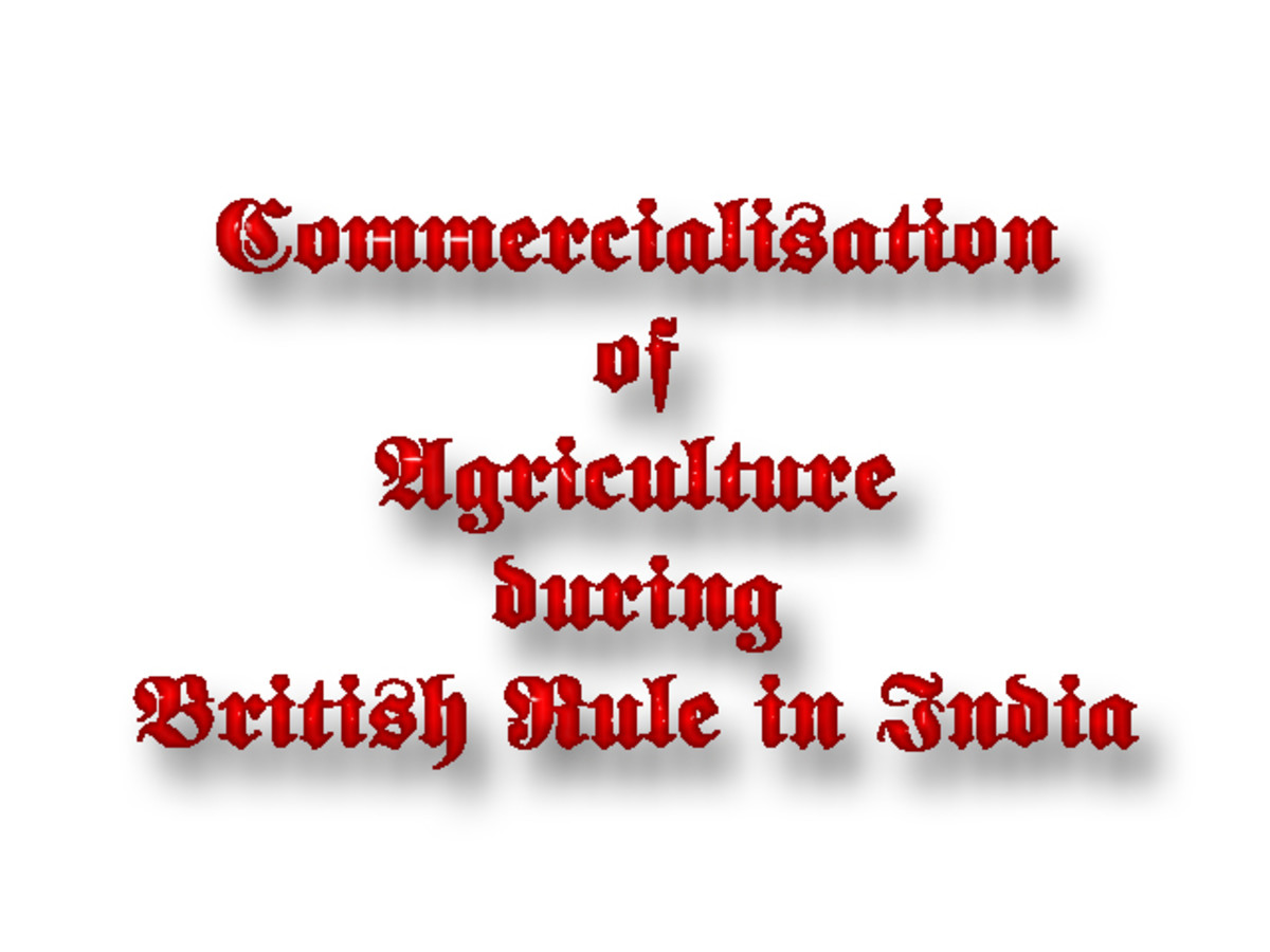 Commercialisation of Agriculture during British Rule in India
