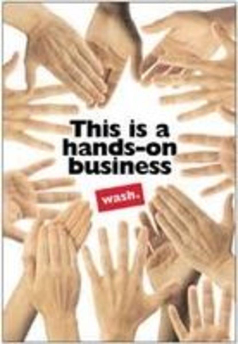 Hand Washing Poster Standard Precaution OUTFOX Prevention