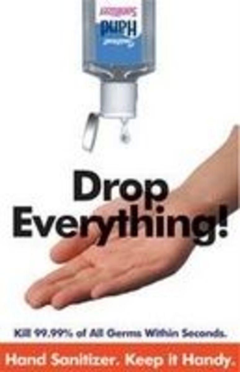 Hand Sanitizer Poster Standard Precaution OUTFOX