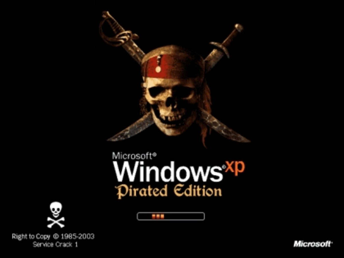 xp pirated edition boot screen