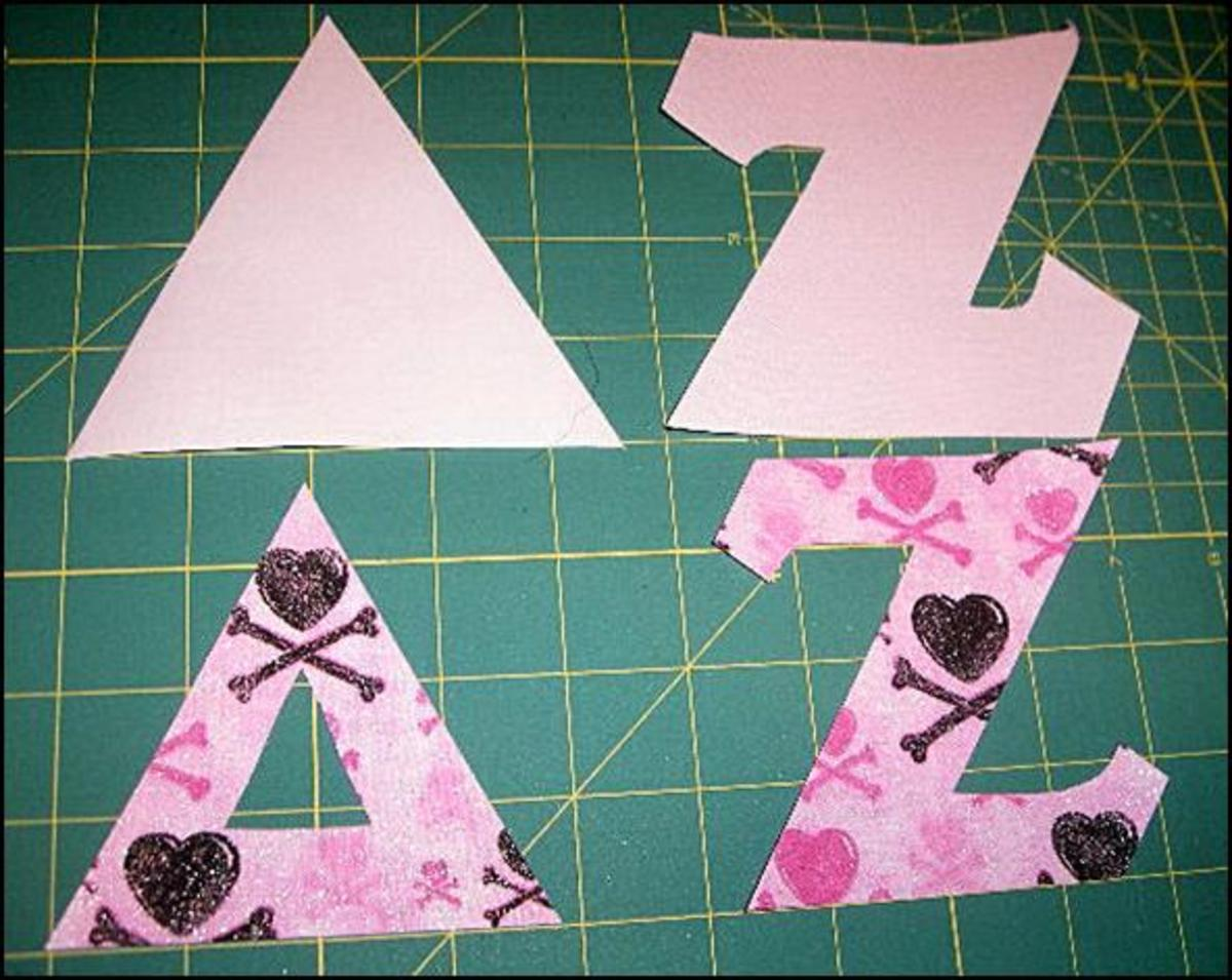 Do-It-Yourself Fabric Greek Letter Shirts