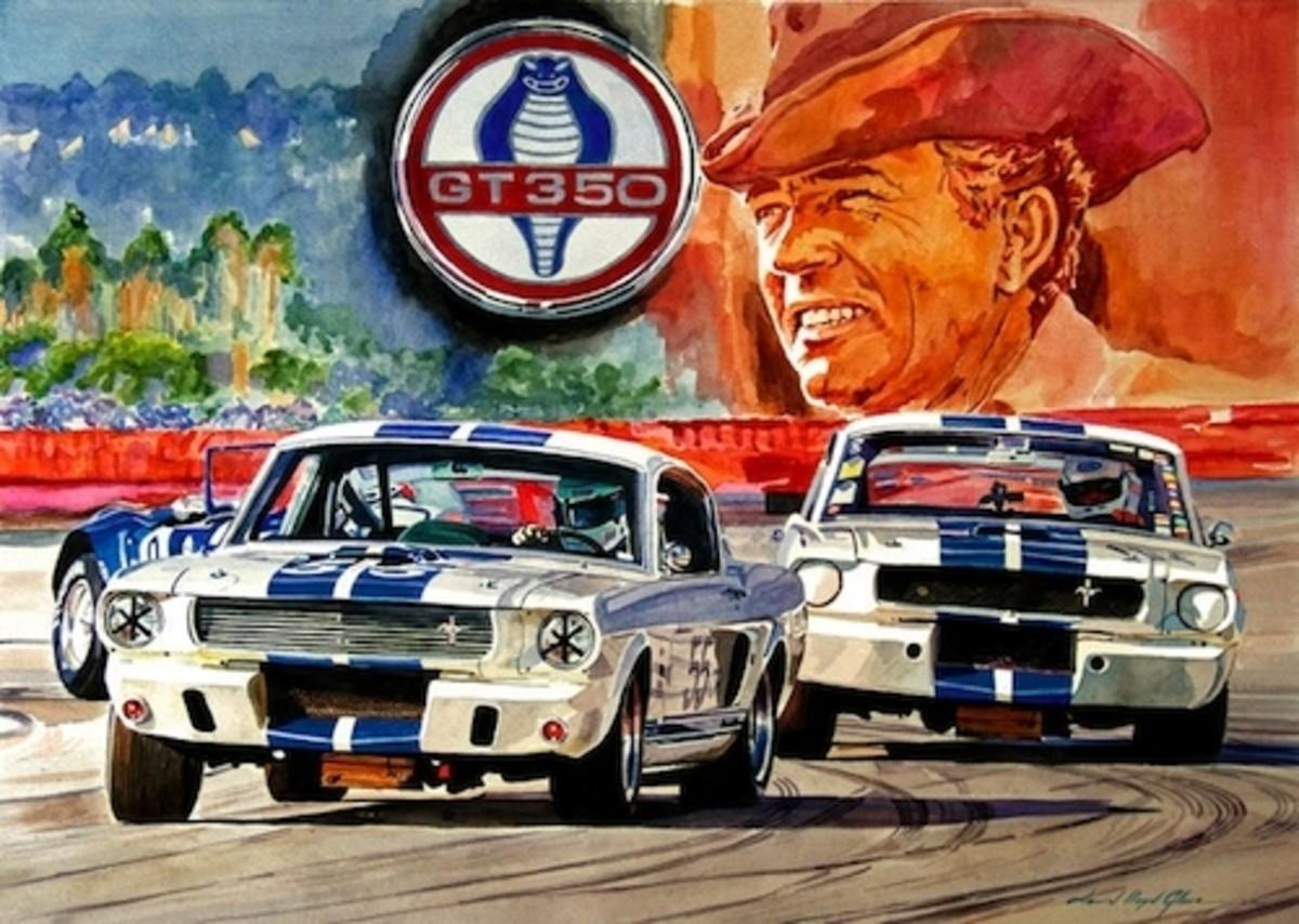 The Thundering Blue Stripe GT-350 by David Lloyd Glover