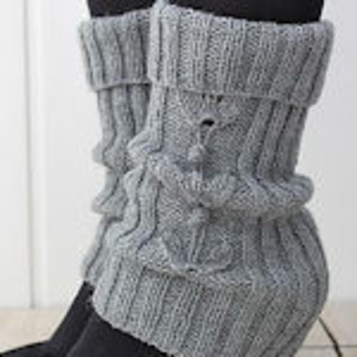 Ruffled Leg Warmers Free Knitting Pattern