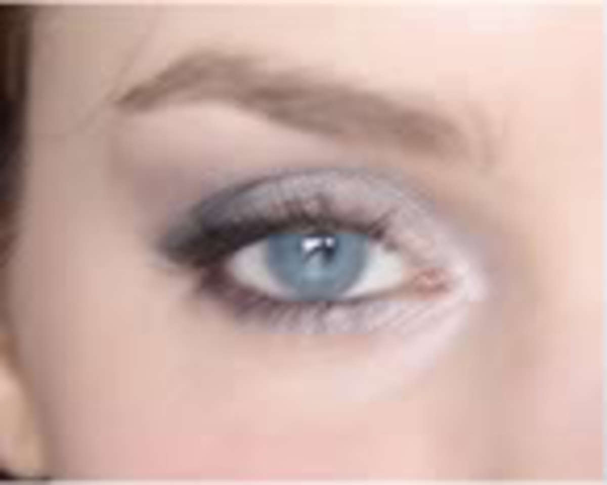 Enhance deep-set eyes with light, shimmery shades.