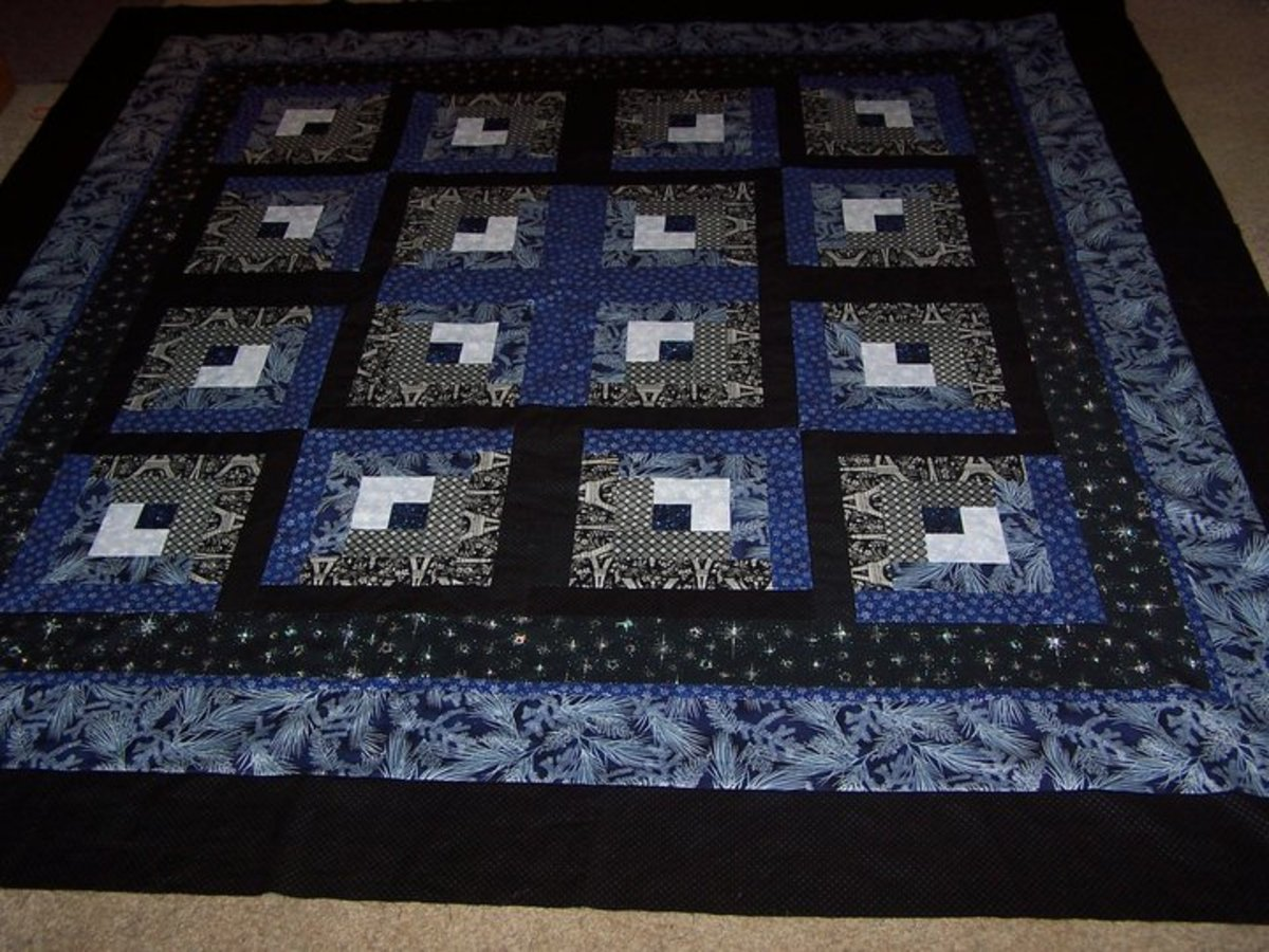 This is a variation on the log cabin quilt and it is as limitless as your imagination