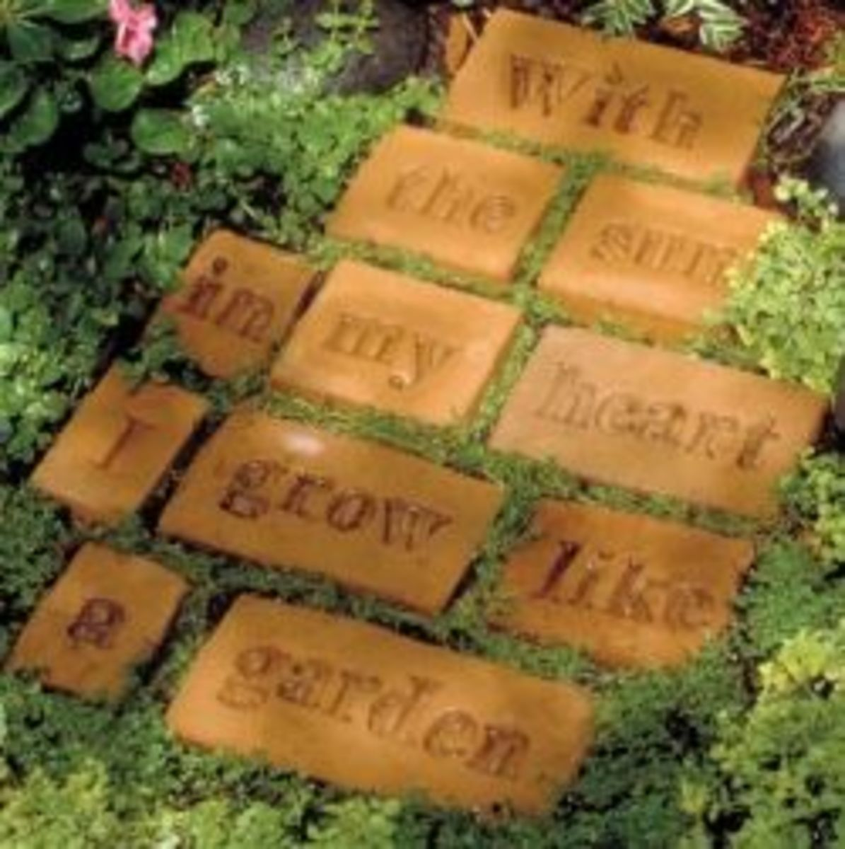 You can make a garden poem or use your favorite quotation with these bricks.