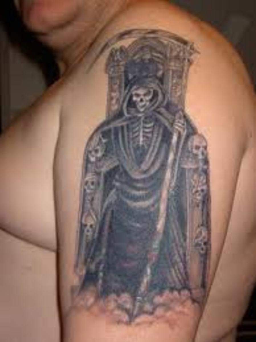 Gothic Tattoos And Meanings-Gothic Tattoo Ideas, Gothic Cross, Vampires, Gothic Figures