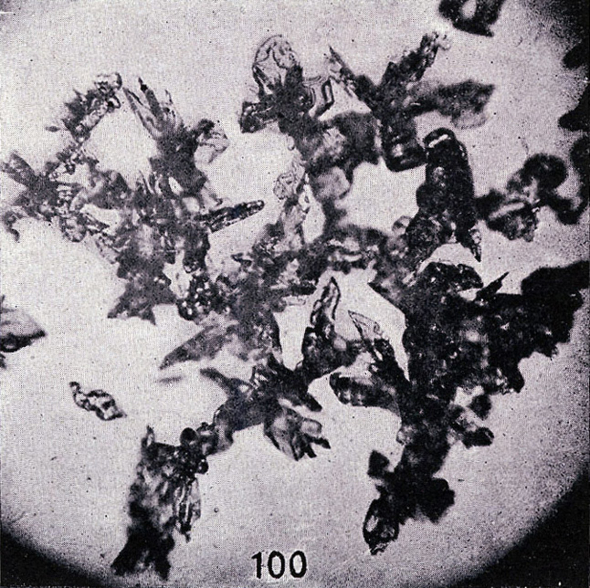 Irregular crystals: Usually full or half-formed crystals that were damaged on their way to the ground.