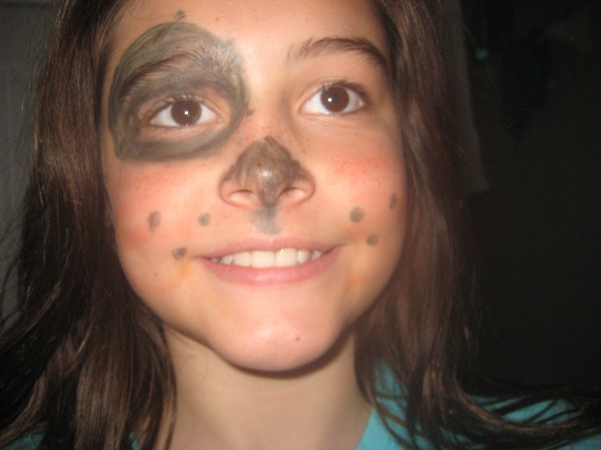 An eyebrow pencil or a washable marker can transform a child into a puppy, pirate, football player, kitten or rockstar.
