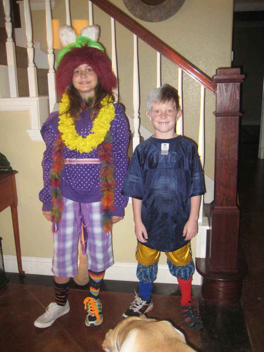 Kids can dress up in old Halloween costumes or mom and dad's clothes, or dig through their own closets to see who can come up with the craziest outfit.