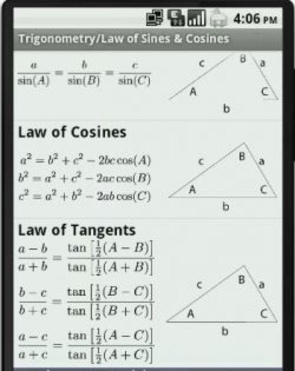 Math Ref Free app