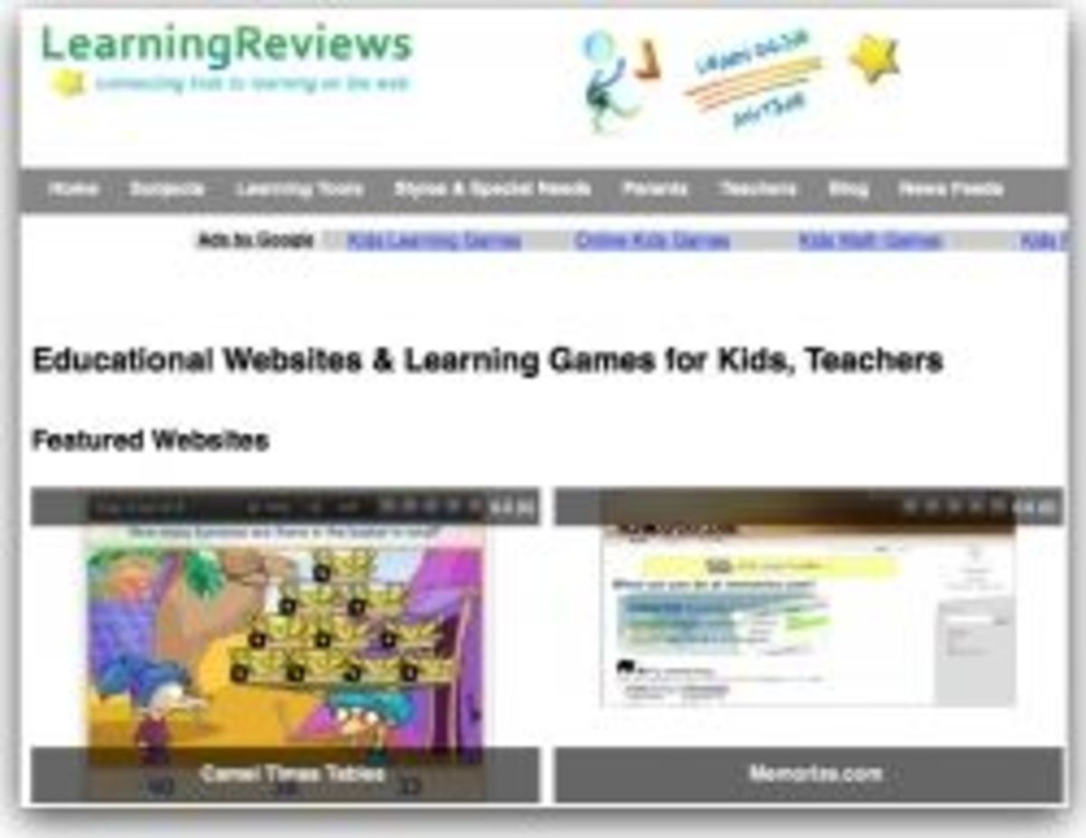 LearningReviews Math list