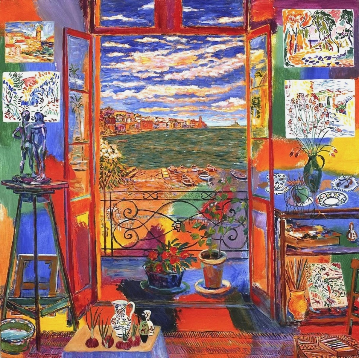 Matisse's Studio (Collioure, 1905) by Damian Elwes,