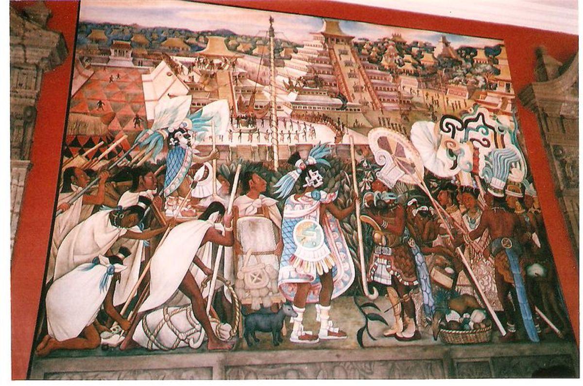 Mural by Diego Rivera - Palacio Nacional Mexico
