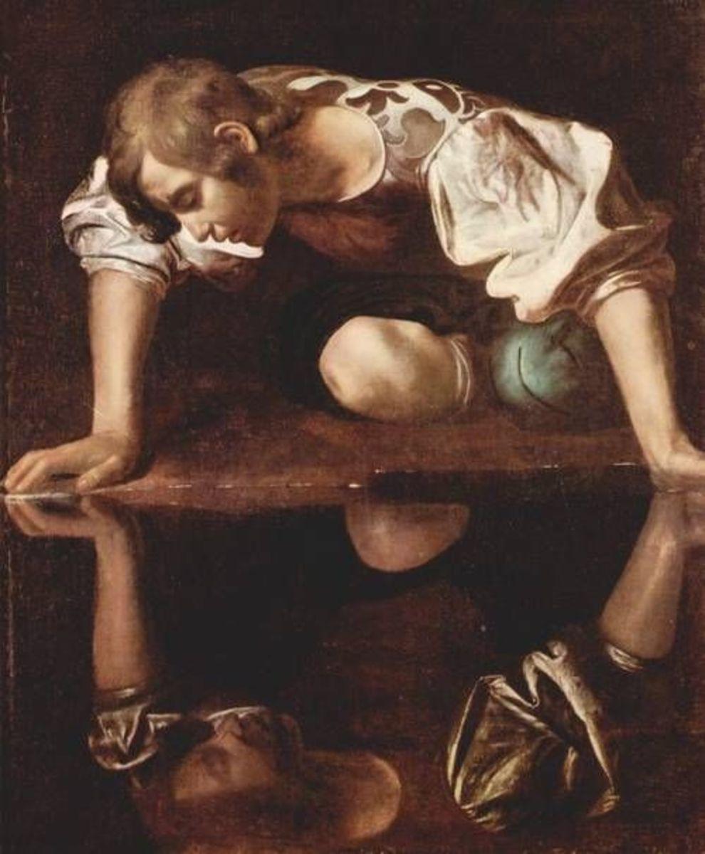 Narcissus admiring his image