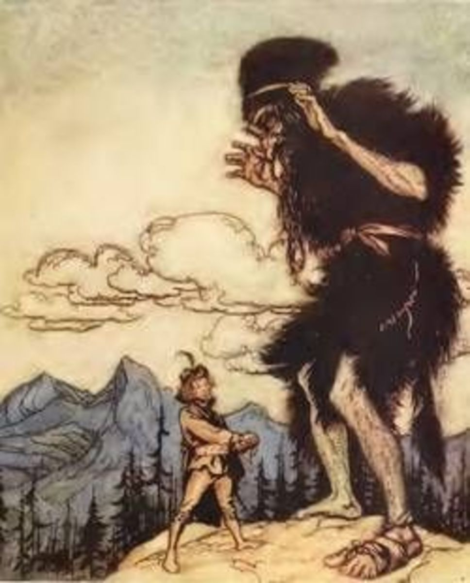 Jack and Giant by Arthur Rackham
