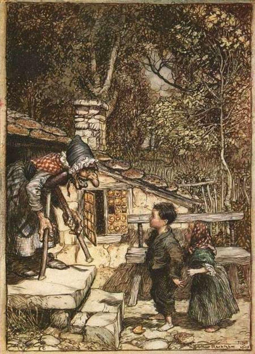 Hansel and Gretel by Arthur Rackahm