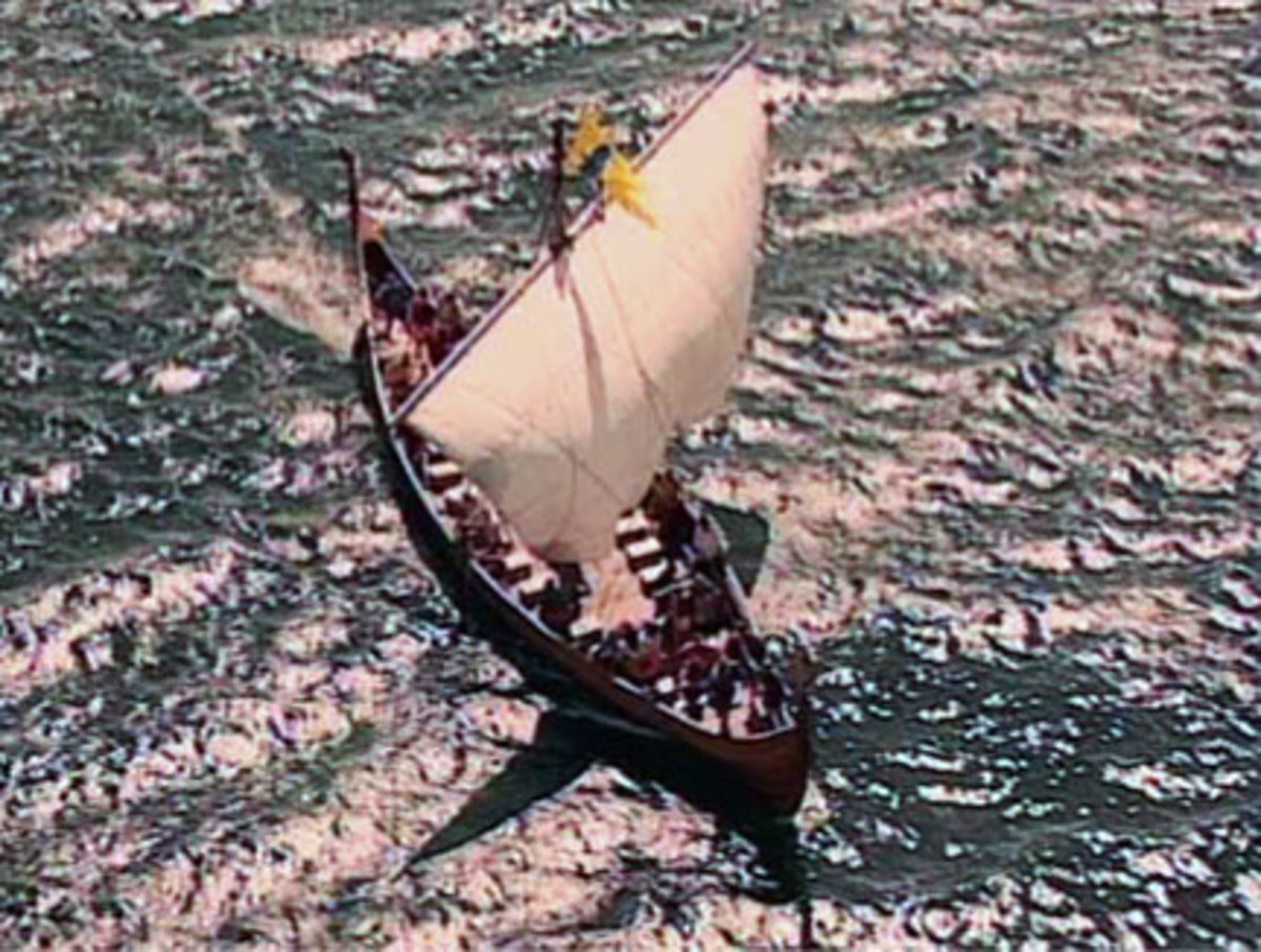 Svein and Beorn were on board ship In the Solent when Svein asked his kinsman to give him his earldom. Beorn answered that he could not without first asking the king. Svein slew him in front of the crew...