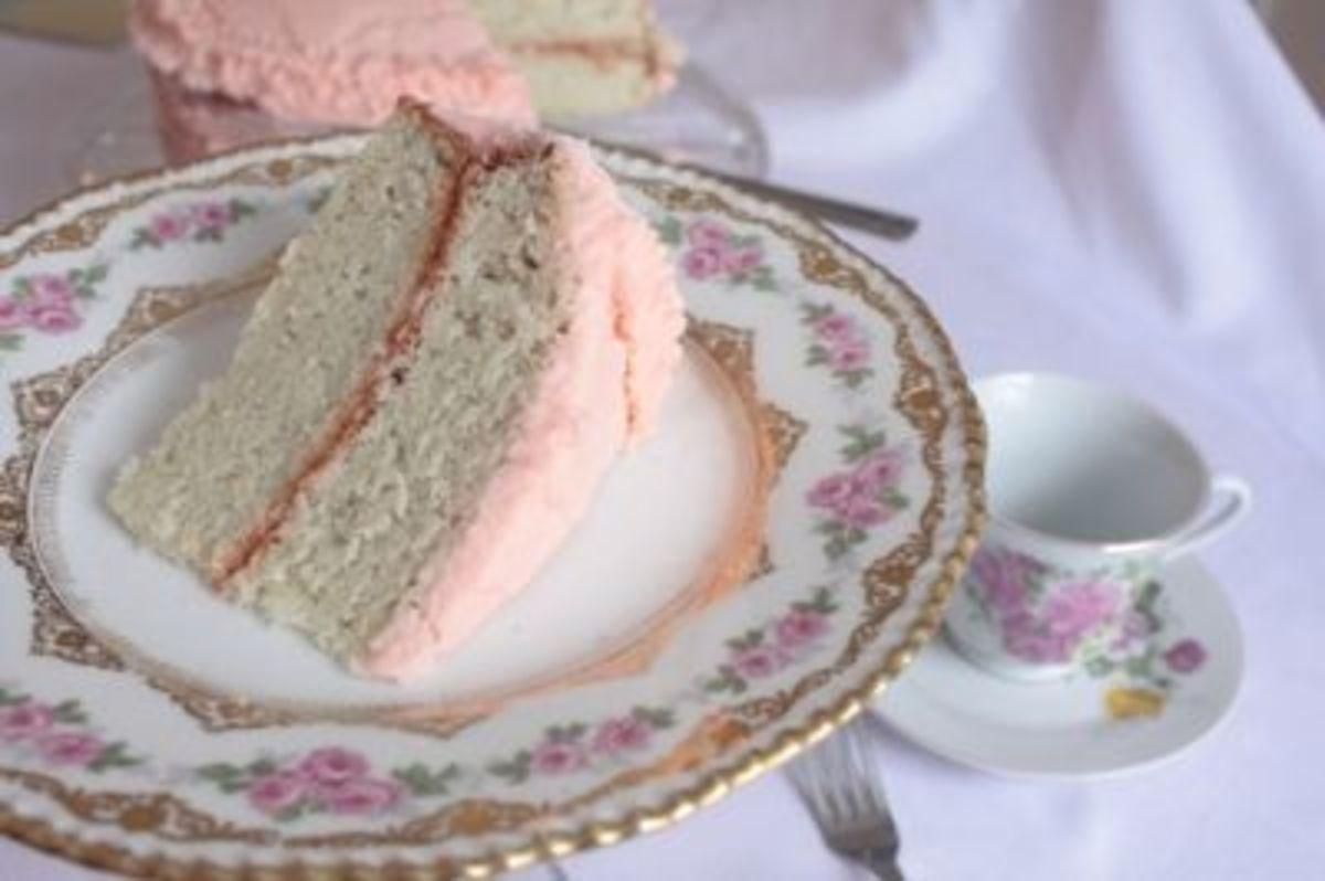 Elegant Pink Champagne Cake