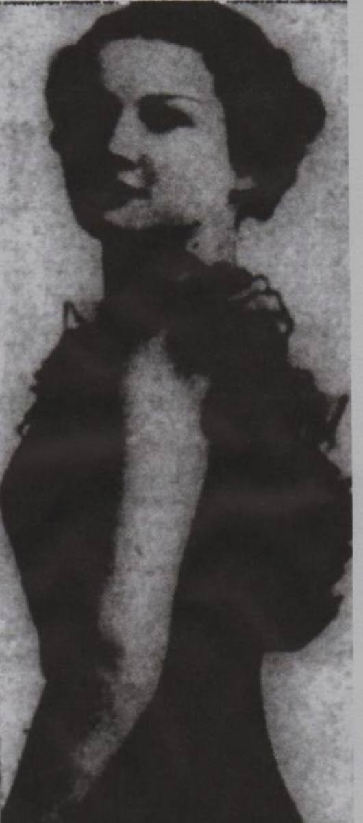 """Fig. 1 Old photo of Leila Welsh in the """"St. Petersburg Times"""" published March 12, 1941 (Associated Press) - three days after the murder."""