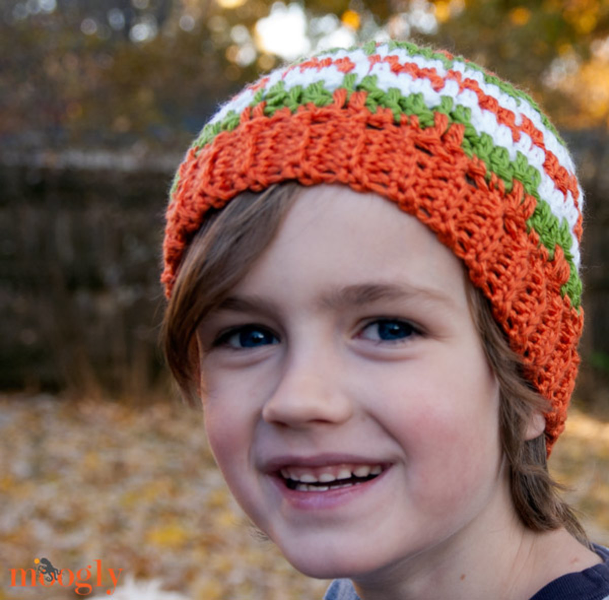 Crochet Leaping Stripes and Blocks Beanie