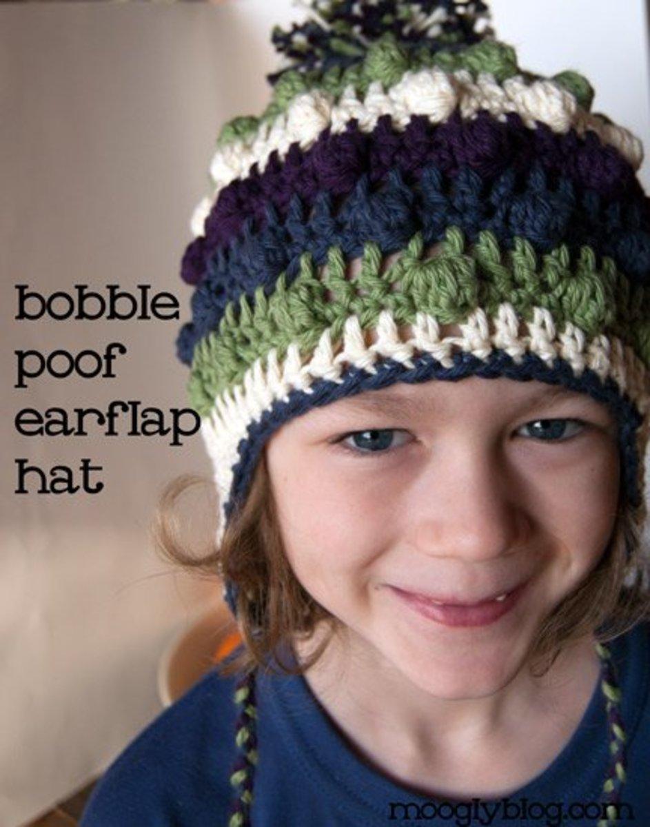Bobble Earflap Hat